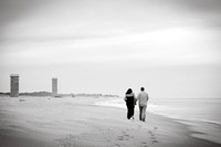 Christie + Adam : Beach Engagement